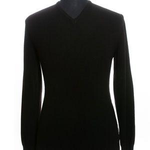 Porsche Design Black Cashmere Blend V-Neck Sweater